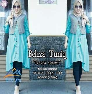 baju tunik wanita fashion muslim beleja