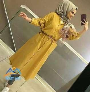 tunik wanit aluna tunik long blouse muslim