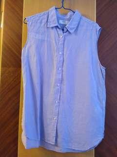 麻質恤衫背心
