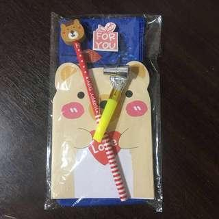 Christmas/ party door gift set ( stationery)