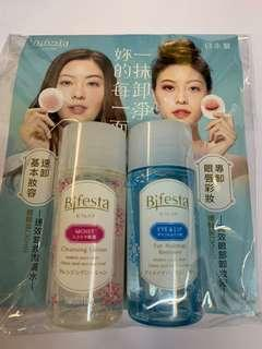 日本 Bifesta 速效卸妝潔膚水 30ml + 眼部卸妝液 30ml