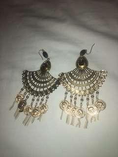 Boho Cleopatra Style Gold earrings