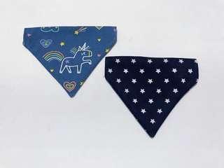 🚚 Reversible Slip-on Pet's Bandana - Blue Unicorn