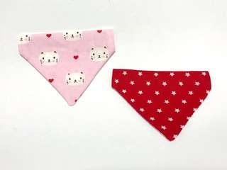 🚚 Reversible Slip-on Pet's Bandana - Pink kitty