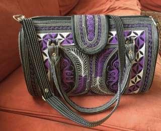 Handbag in purple