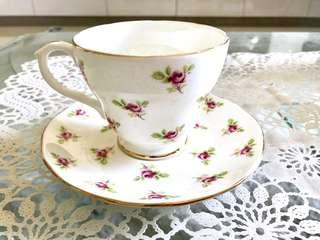 Duchess teacup bone China - pink cottage rose