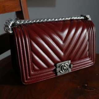 BRAND NEW Chanel Mirror Replica Boy Bag Kulit Asli FREEONGKIR Jabodetabek
