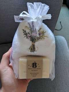 Peppermint & honey Soap and facial towel (New) - $10