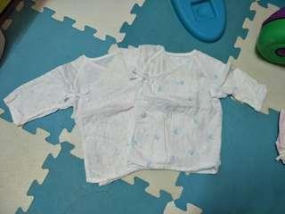 🚚 麗嬰房紗布衣*2