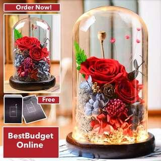 Valentine Pre Order - Never Wilt Roses with FREE DELIVERY