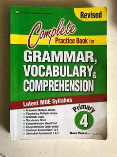 P4 Complete Practice Book in Grammar, Vocabulary & Comprehension