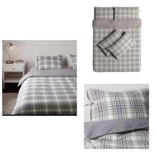 Ikea (NEW) King Snarjmara Quilt Cover With 4-Pillowcase (240x220cm)