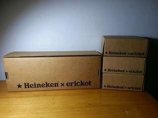罕 Heineken x erickot 喜力x葛民輝 1/6 12吋figures套裝 已絕版(全新)