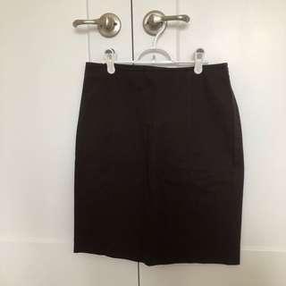 Brown Calvin Klein Skirt Size 8