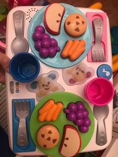 Food plate and teaching manners