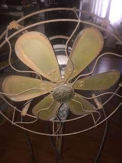 GE standing fan 230V 3speeds 5 copper blades solid cast iron base rotation left n right Height 125working condition