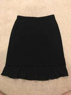 Saba size 6 black skirt office work