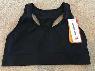 New balance black sports bra size s new with tags