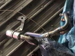 Titanium Full System Exhaust with SS SC Project Muffler for Yamaha MT-07