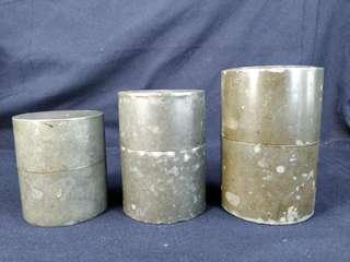 (不議價) $1500/3個 超密氣双蓋老錫茶罐或大800中600細400