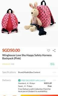 Winghouse Love Shu Bunny Harness Bag for toddlers