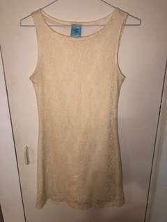 Winners brand cream lace dress size small
