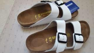 Brand new white leather birkenstocks size 40