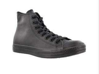 Black leather converse 7
