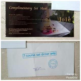 $35 YT MRT fine-dining 7-course vegetarian meal