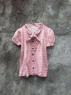 Pink motif blouse