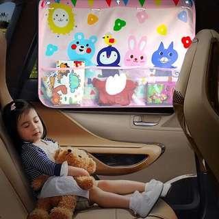 🚚 汽車遮陽窗簾玩具收納