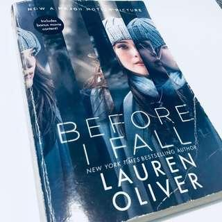 BEFORE I FALL BY LAUREN OLIVER INCLUDES BONUS MOVIE CONTENT!
