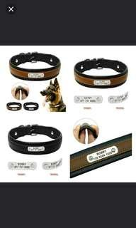 🆕🆒 Personalized Dog Collar Customized Dogs ID Collars Inner Padded Leather Pet Collar for Medium Large Pets Free Engraving