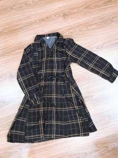 🚚 全新現貨💋復古格子洋裝