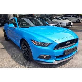 FORD MUSTANG GT 5.0 V8 MUSCLE CAR (A) OFFER UNREG 2017 GRABBER BLUE COLOR