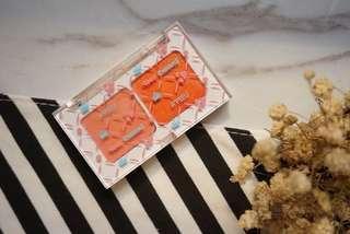 🚚 全新 A'PIEU x YoonCharmi漾彩雙色眼影盤  #1摩卡棕 #2朝氣橘