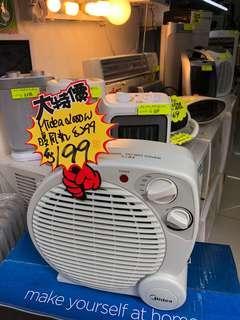 美的2000w 暖風機 $199