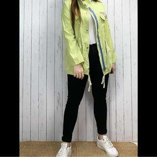 Yellowgreen Korean Coat