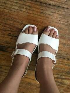 White Block Heel