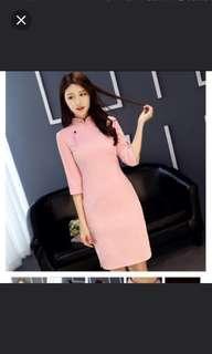 Pink cheongsum
