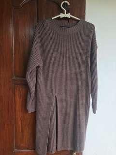 Gonegani knit slit sweater