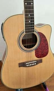 New Acoustic Guitar with built in Preamp/tuner(free set of strings & capo)