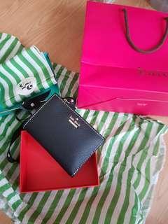 Kate Spade black thompson street PWRU6300 wallet and card holder
