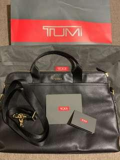 TUMI Leather Laptop Bag NEW with RECEIPT