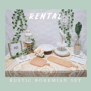 Rustic Bohemian Set - Dessert Table Decor RENTAL
