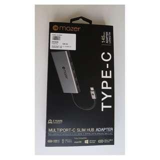 Mazer USB-C to 4 x USB 3.0 hub