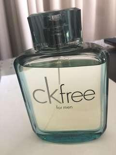 Ckfree men's 100ml eau de toilette spray hardly used