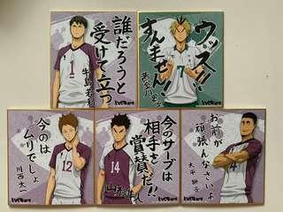 Haikyuu shikishi boards