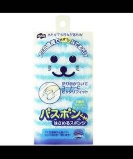 🚚 日本山崎小海豹 夾式抹布海綿擦 風呂抹布