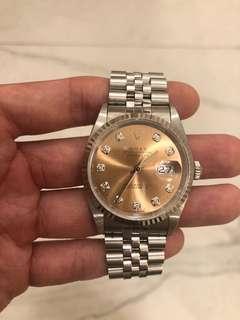 Rolex DateJust 36mm diamond 16234